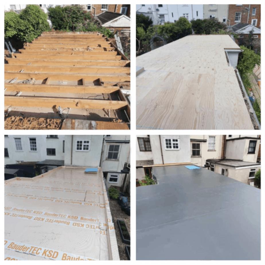 Flat roof refurbishment for a residential customer in Exeter, Devon