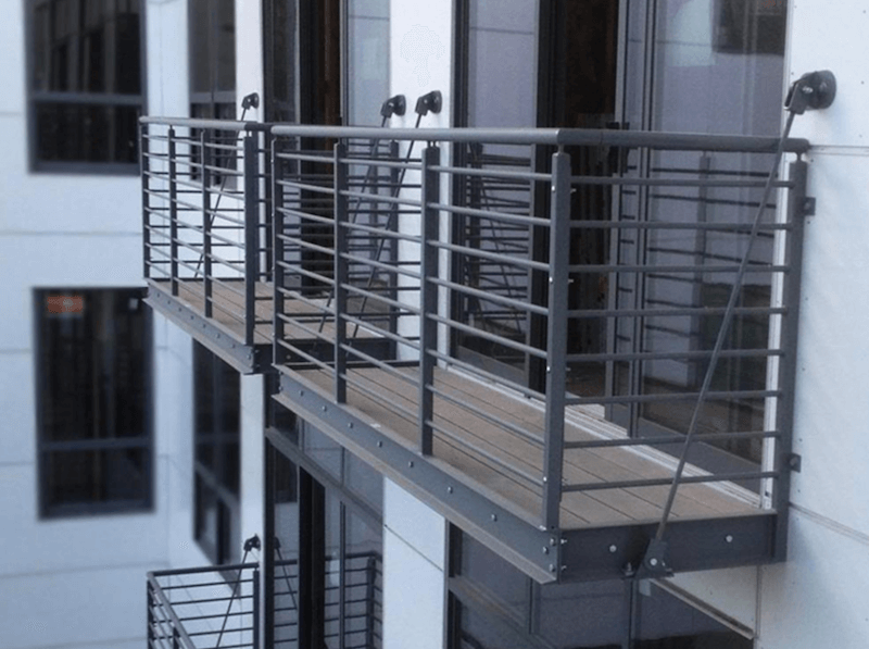 Hung Balconies: One of the types of balconies